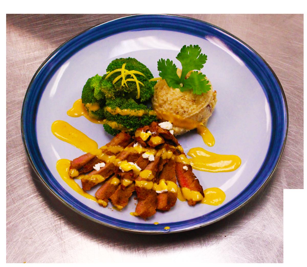 Moroccan Steak w/Mashed Cauliflower