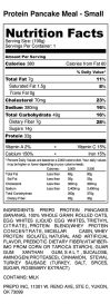 Protein Pancake Meal - Small - Nutrition Label