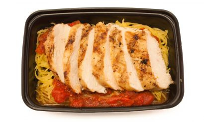 Spaghetti Squash with Grilled Chicken